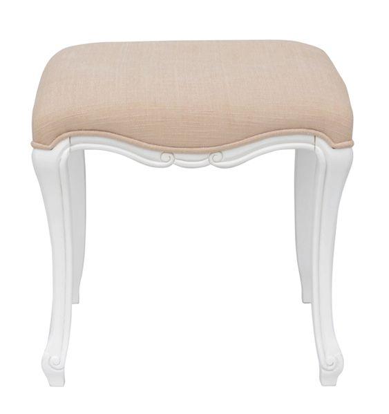 White Dressing Table Stool   Elodie Range