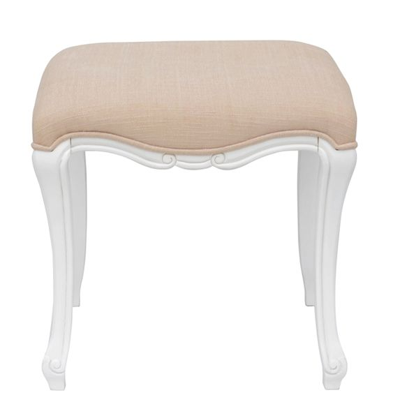 This pretty white stool from our Elodie Range is an ideal addition to the range's 3 drawer console table, add to that the 3 way mirror and you have the perfect dressing table! See our Matching Ideas below! #Stool #BedroomFurniture