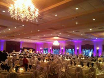 DIY Uplighting: Color Lighting Rental for Wedding Reception // $19 per light and a 7 day rental (and free shipping!). Could be an awesome way to add some pretty lighting to the big ballroom without a lot of cost!