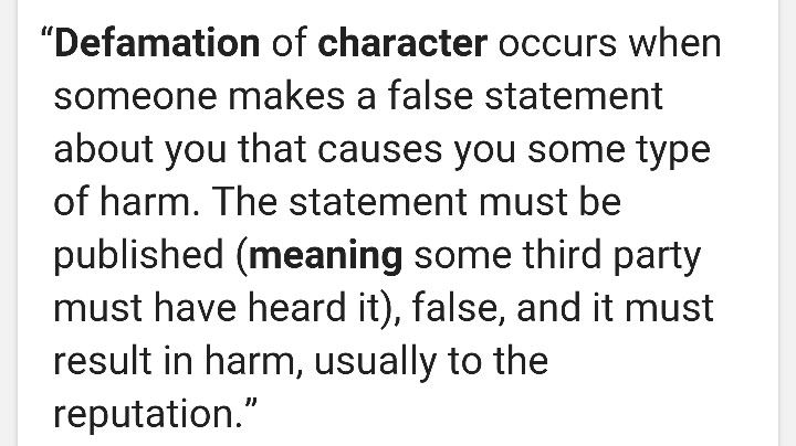 Gangstalking- character defamation is used against the ti to perform a successful slander campaign. It is illegal to. These cult members put so much effort in doing bad things to a person because they're bad people