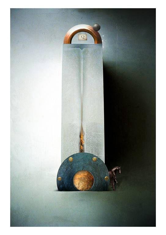 Don chisciotte della mancia. Illustrazione di Maurizio Marotta