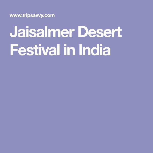 Jaisalmer Desert Festival in India