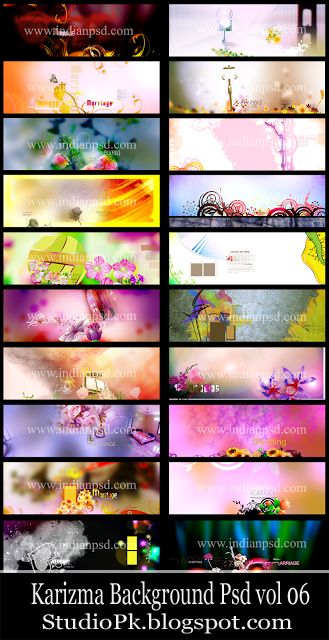 PSD Karizma Background Creation Sheets Vol 06 Download