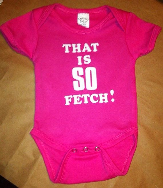 That is so fetch! On Wednesdays We Wear Pink onesie Mean Girls inspired funny onesie for baby girl comes in vibrant pink which is shown or a