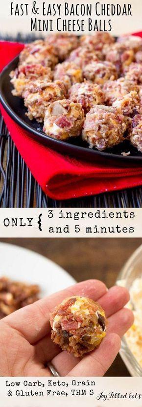 Bacon Cheddar Mini Cheese Balls – Low Carb, Grain Gluten Free, THM S, Keto – If …
