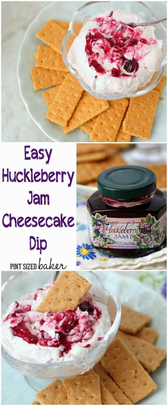 Pint Sized Baker: Huckleberry Jam Cheesecake Dip - Quick and Easy for those surprise guests.