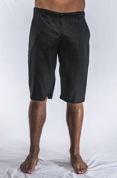 Designer Linen Short Black $89