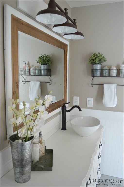 Die besten 25+ Badezimmerspiegel Redo Ideen auf Pinterest Redo - badezimmer schöner wohnen
