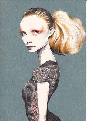 Pippa McManus fashion illustration I Aurelio Costarella for Perth Fashion Festival 2010