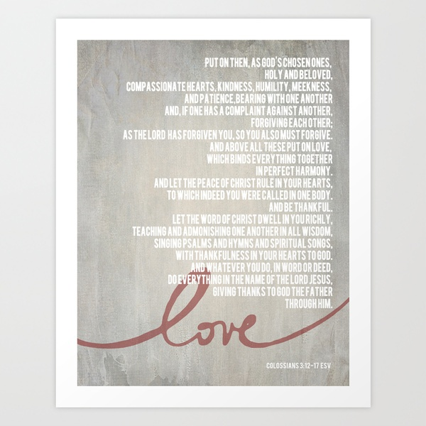 Colossians 3 12 17 Beautiful Want This Poster
