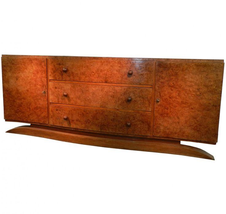 grande commode art deco en loupe d 39 amboine 1930 la maison bananas proantic buffet. Black Bedroom Furniture Sets. Home Design Ideas