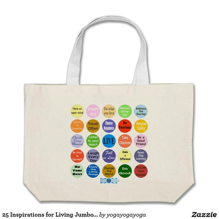 25 Inspirations for Living Jumbo Tote Bag