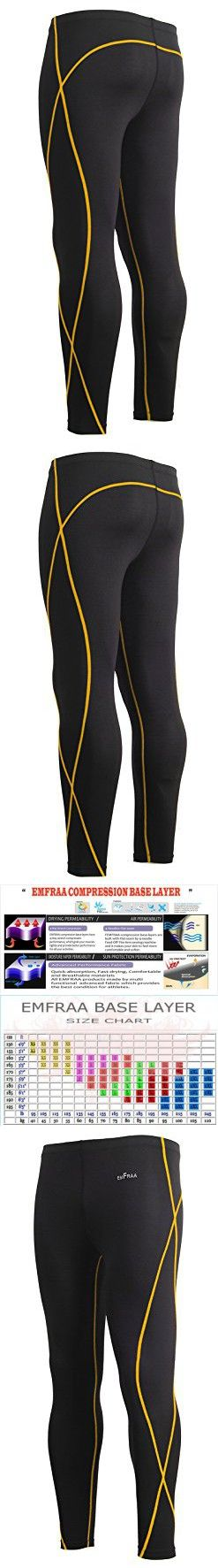 Emfraa Skin Tights Compression Rashguard Leggings Base layer Running Pants mens womens