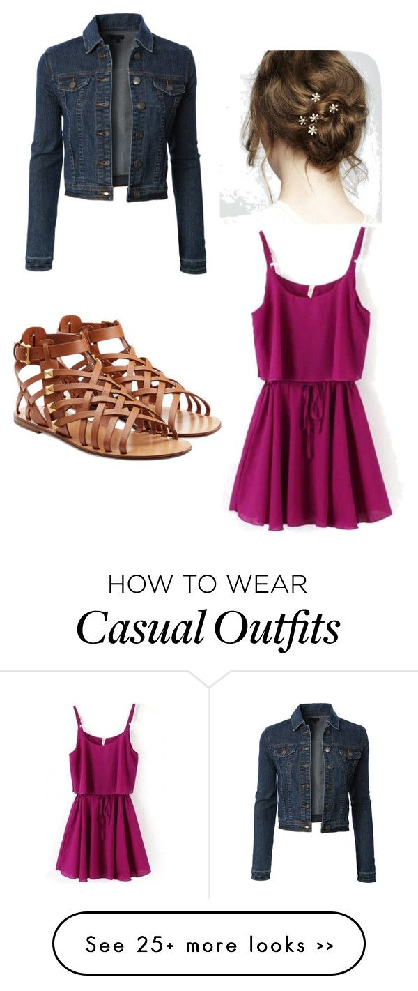 """""""Casual"""" by bubbles-peach on Polyvore featuring LE3NO and Valentino"""