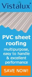 Vistalux PVC roof sheets for general roofing & cladding