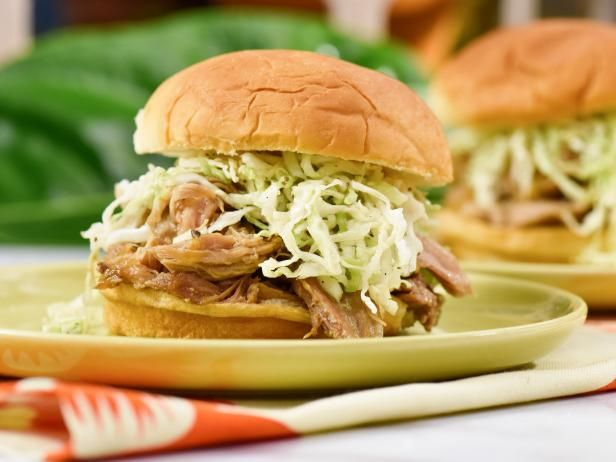 Get Slow-Cooker Hawaiian Pulled Pork Sandwiches Recipe from Food Network