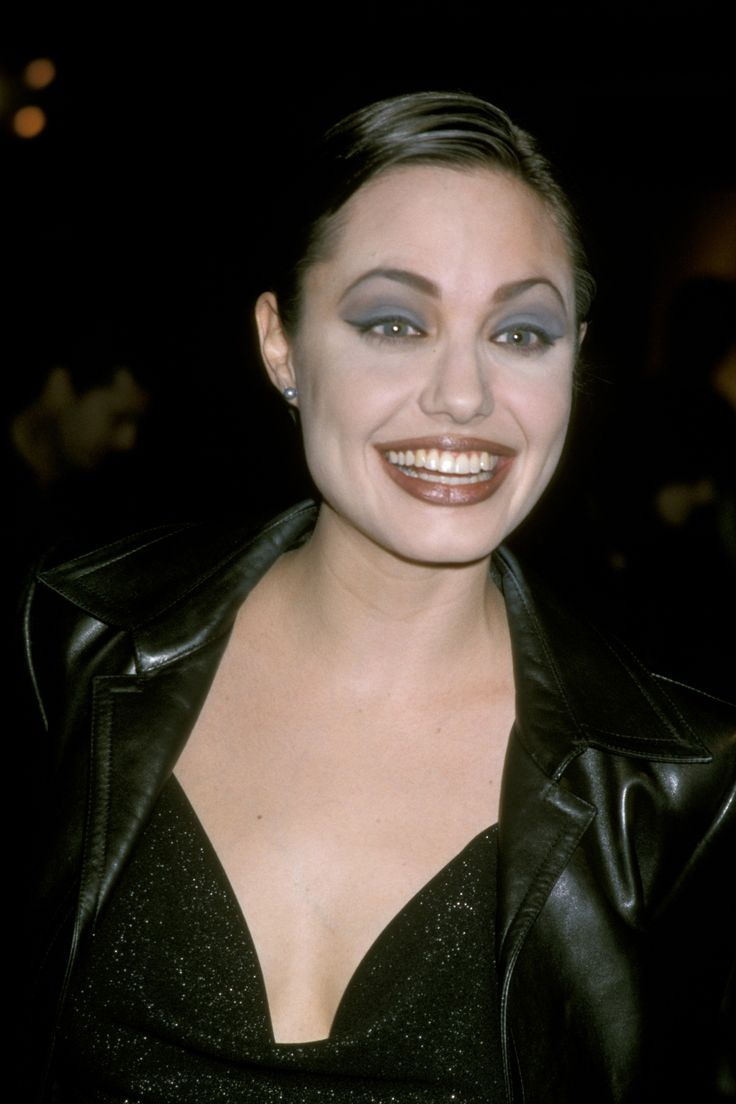 At a Gia screening in January 1998, really enjoying that eye shadow.   - ELLE.com