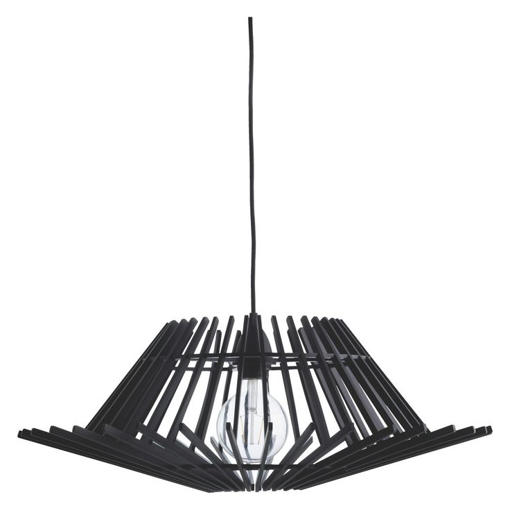 PLY Black stained plywood easy-to-fit ceiling shade | Buy now at Habitat UK