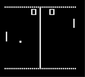 Pong - Which was so cool at the time.