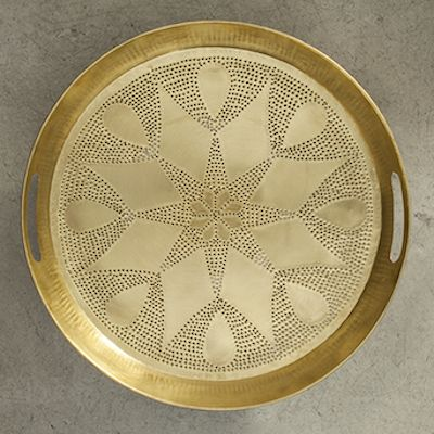 More brass please!Shop this beautiful brass tray at www.cazabrand.com! #brass #homeaccessories #trays
