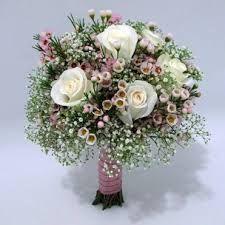 gypsophila and roses