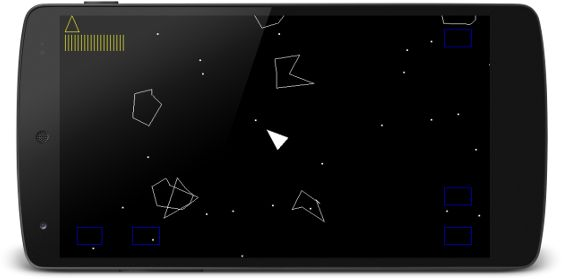 Asteroids clone from the book Android Game Programming by Example.
