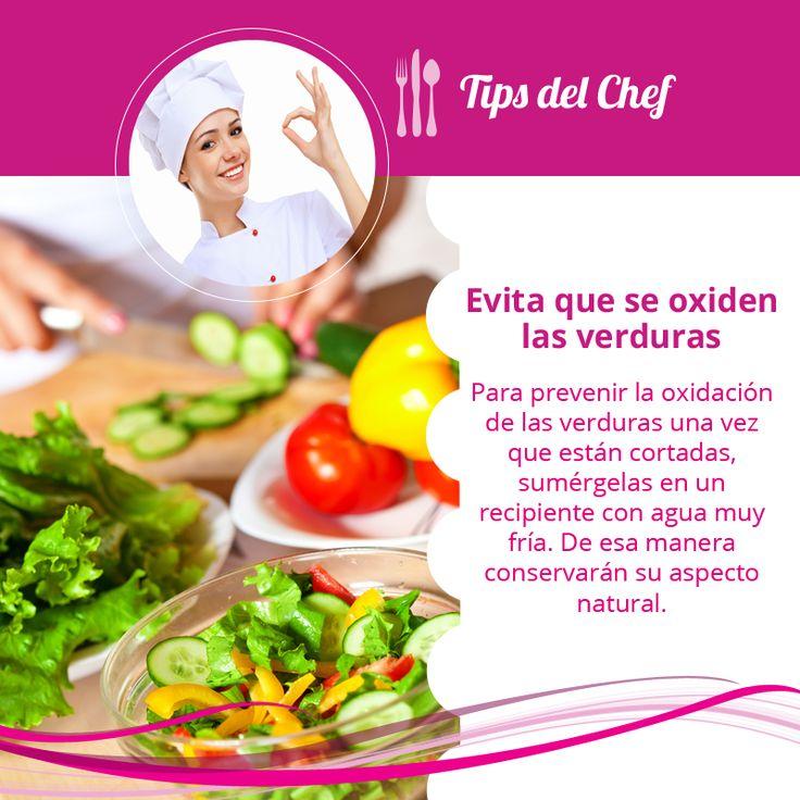 Evita que se oxiden las verduras