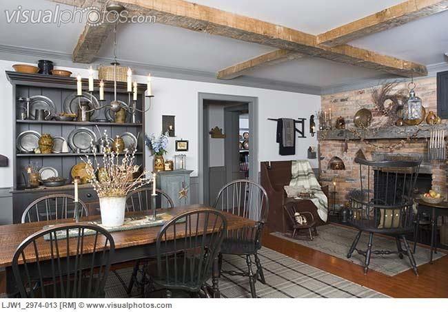Pin by katherine cornwell on primitive dining rooms for Kitchen sitting area