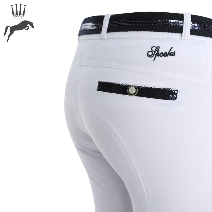 10 Must-Have Products for Show Jumpers - Spooks Ricarda Sequin Knee Grip Breeches - https://www.equiport.co.uk/blog/article/10-musthave-products-for-show-jumpers/