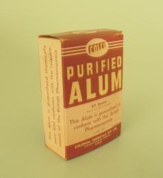Purified Alum- medicine 1940-1970
