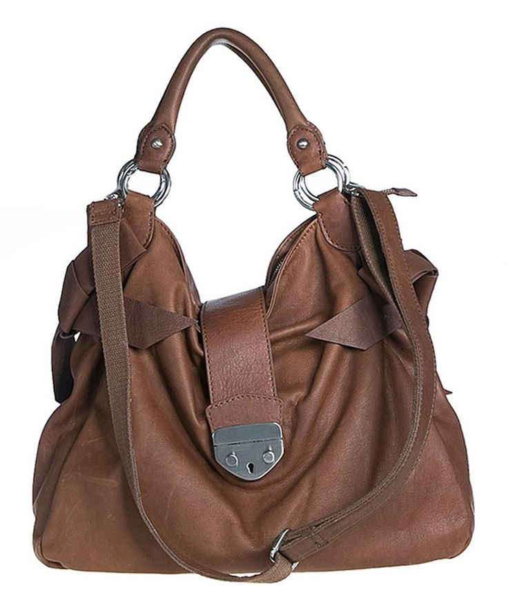 $171, 19 February 2014. Another great find on #zulily! Bellini Dark Brown Leather Shoulder Bag by Bellini #zulilyfinds