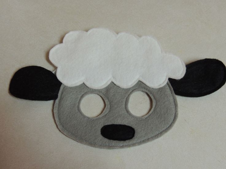 Sheep Felt Mask - Perfect for pretend play or as part of a costume by Fantabric on Etsy https://www.etsy.com/listing/177799695/sheep-felt-mask-perfect-for-pretend-play