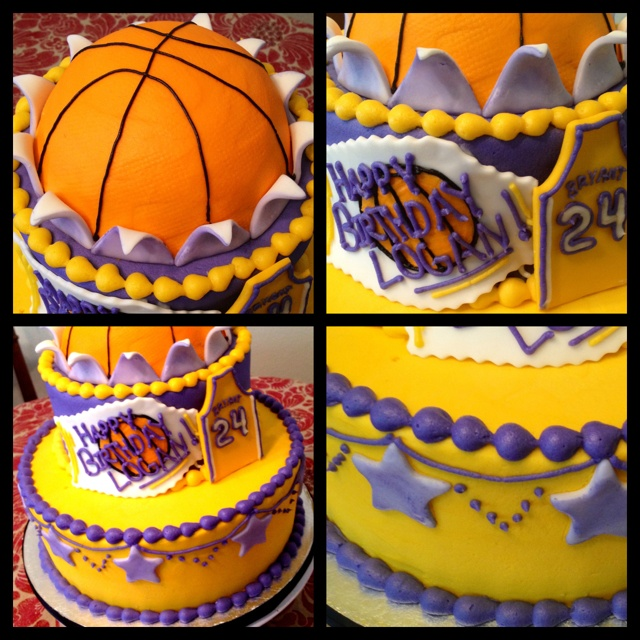 LA Lakers Birthday Cake by Sweet For Sirten.