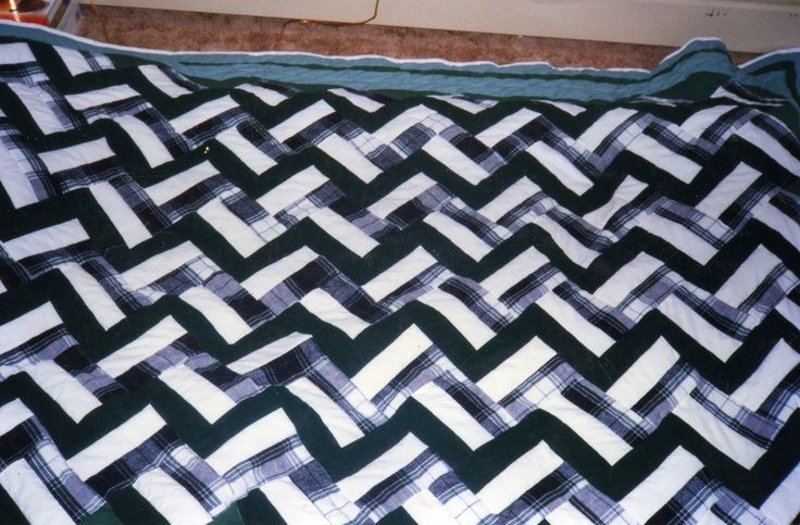 """This was made in twin size from a book now out of print, """"Classic Quilts in a Day""""."""