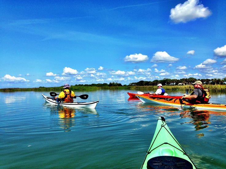 Folly river marsh kayaking south carolina sea kayaking