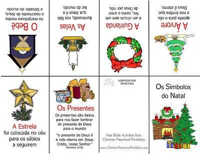 Presépio colorido e símbolos do natal