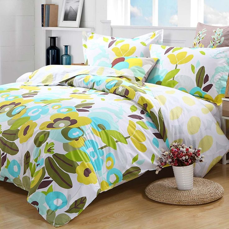 939 best images about shopping style on - Yellow and blue bedding queen ...