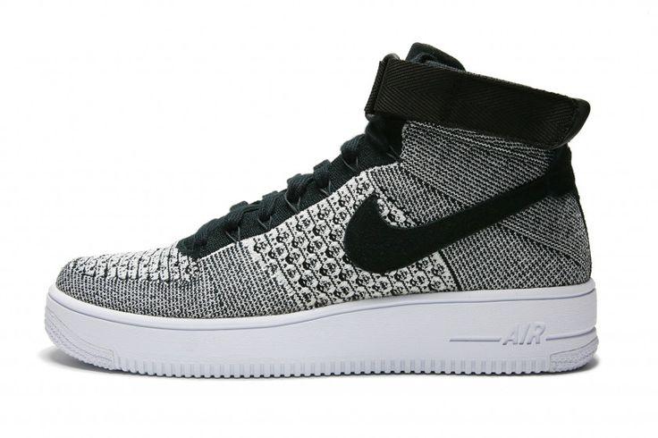 Nike Air Force 1 Ultra Flyknit Mid - Black/Black/White