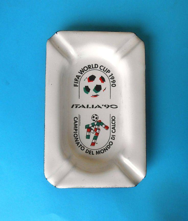 FIFA FOOTBALL SOCCER WORLD CUP ITALY 1990. - beautifull vintage enameled ashtray  | eBay