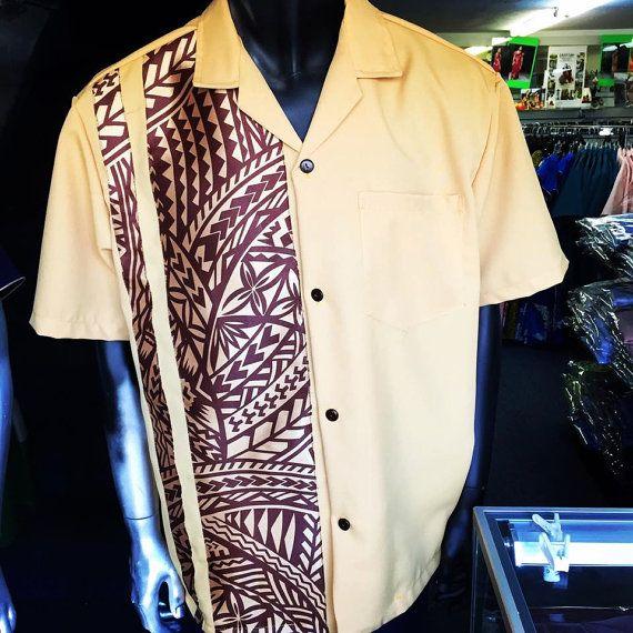 Men's Polynesian Tribal Shirt By Kemahani On Etsy