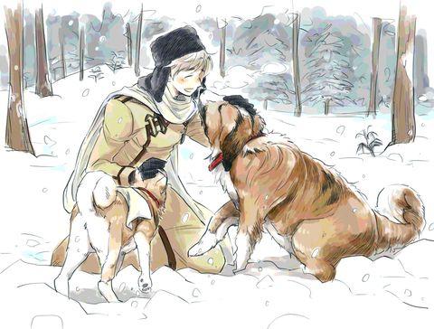 Hetalia (ヘタリア) - Russia (ロシア) -「ろしあさんと愛犬」/「hikanika(ヒカ子)」のイラスト [pixiv]