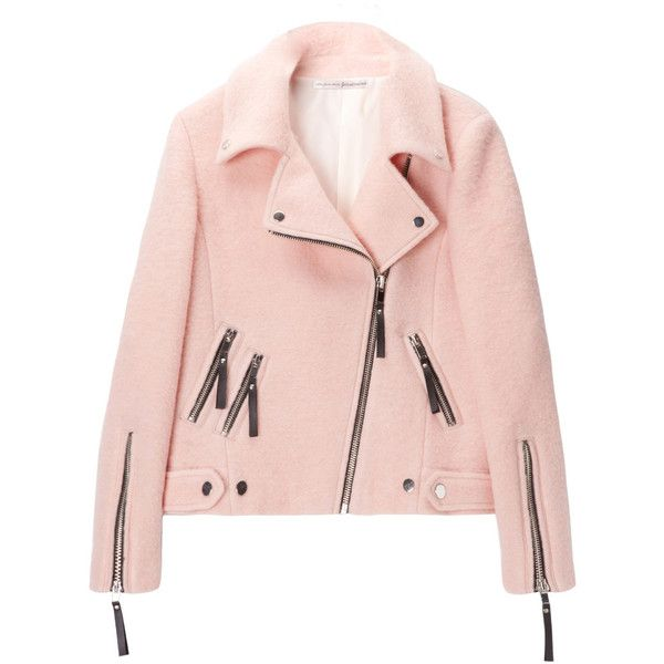 Cazadora perfecto en rosa 'candy' ❤ liked on Polyvore featuring jackets, outerwear, coats & jackets and tops