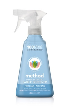 Method Dryer Activated Fabric Softener - can't wait to try this!Method Fabrics, Dryer Activities, Softener Sprays, Cleaning Ideas, Activities Fabrics, Fabric Softener, Method Dryer, Dryer Sheet, Fabrics Softener