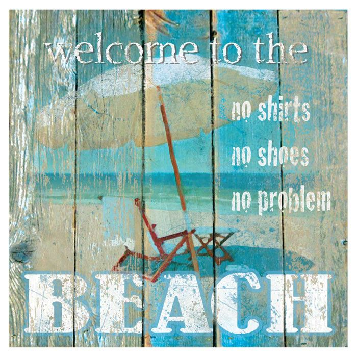 Welcome to the Beach Wall Art