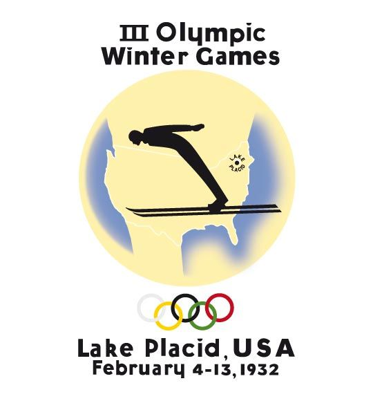 Official logo of the 1932 winter Olympic games in Lake Placid