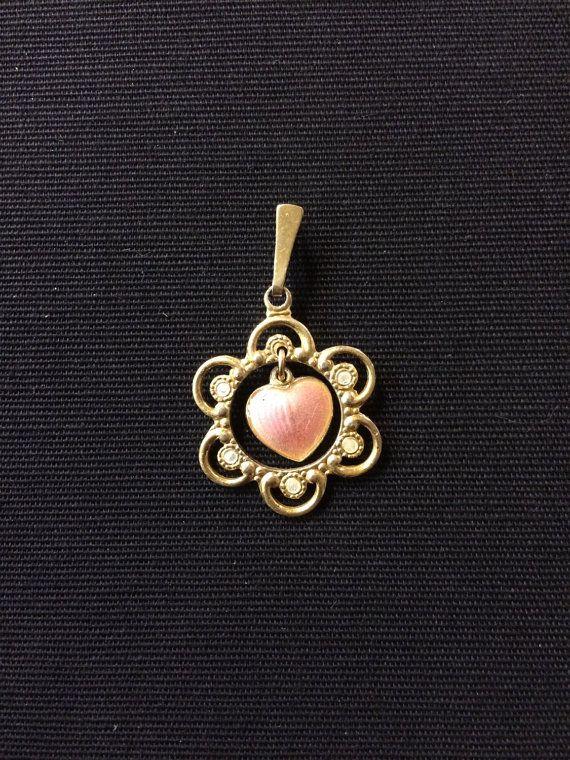 Vintage Enamel pendant by VintageAndNewNorway on Etsy