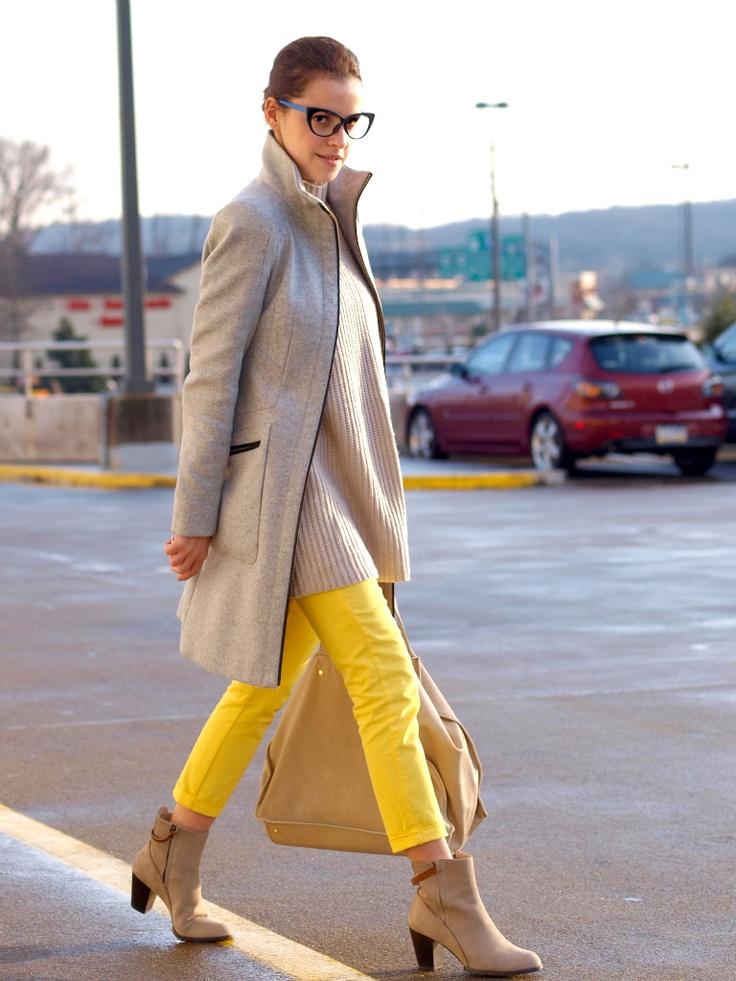 mellow yellow denim...sign me up!