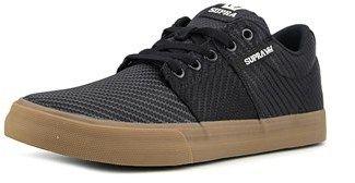 Supra Stacks Vulc Ii Men Round Toe Leather Black Skate Shoe.