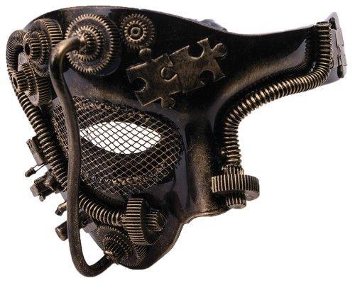 Steampunk Half Mask-Gold