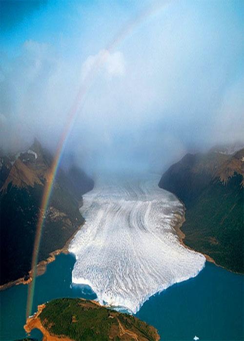El Glaciar Perito Moreno en Argentina, foto de Yann Arthus Bertrand